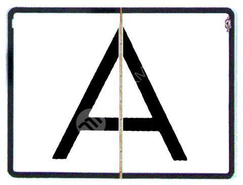 """Reflexní tabule """"A"""" - sklopná"""