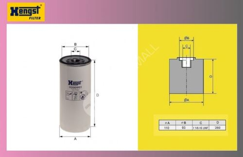 filtr olejový VOLVO FH12,REN-MAGN,PREM