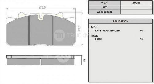 desky brzdové MAN L2000,DAF45LF,MIDLUM