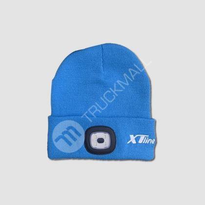 čepice se svítilnou 3,7V 300mAh - modrá