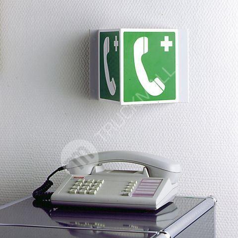 Tabulka úhlová - Telefon pro tísňová volání 15 x 15 cm