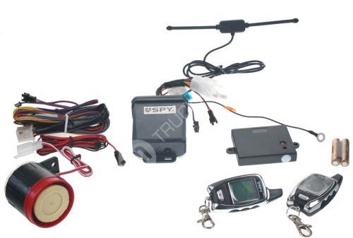 SPY 2-WAY motoalarm, 2 x LCD ovladač, CE