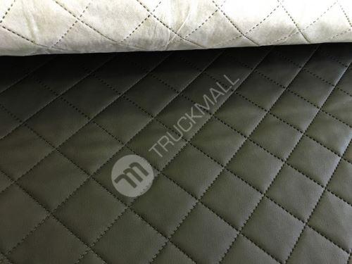Pikovaná koženka - černá (metráž)