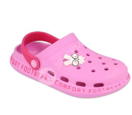 Dětské kroksy Befado comfort světle růžové