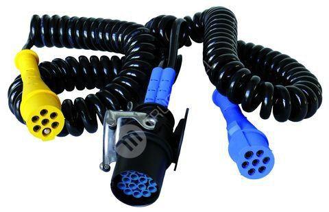 Elektrický kabel spirálový 15/2 x 7 pólů, 24 V, ADR