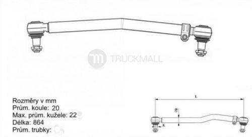 tyč řídící MAN TGL-L=864-CEI