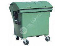 Plastový kontejner s kulatým víkem, zelený