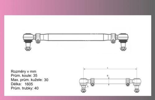 tyč spojovací MB ATEGO - TRW