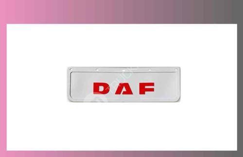 zástěra kola DAF- 600x180-pár-přední-bílá-červené písmo