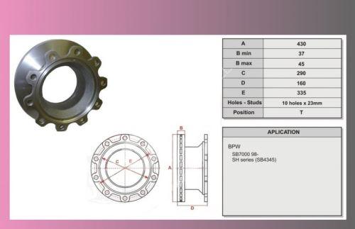 kotouč brzdový BPW-SB4345 TAT