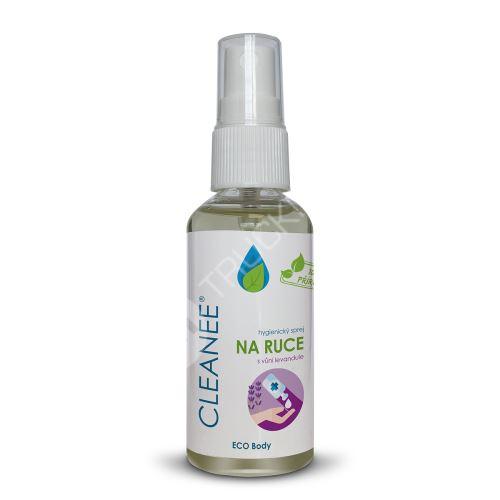 CLEANEE ECO hygienický sprej na ruce s vůní LEVANDULE 50 ml