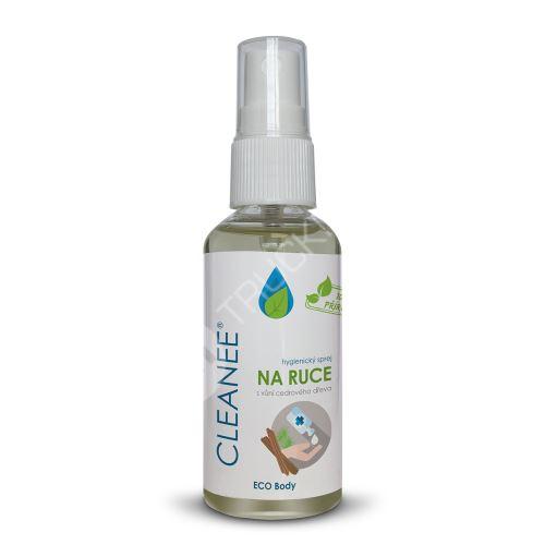 CLEANEE ECO hygienický sprej na ruce s vůní CEDROVÉHO DŘEVA 50 ml