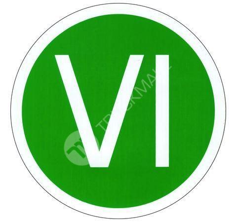 """Samolepící štítek """"VI"""""""