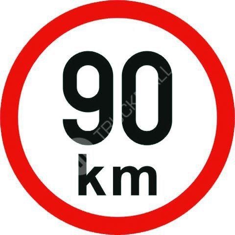 Samolepící štítek 90 km