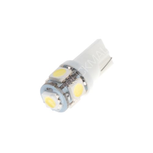 LED T10 bílá, 24V, 5LED/3SMD
