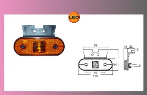 LED UNIPOINT oranž.24V/1,3W-+držák