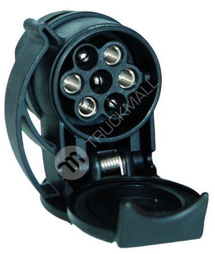 Krátký adaptér 13/7 pólů, 12 V (13pólová zástrčka u tažného vozidla, 7pólová zástrčka u přívěsu)