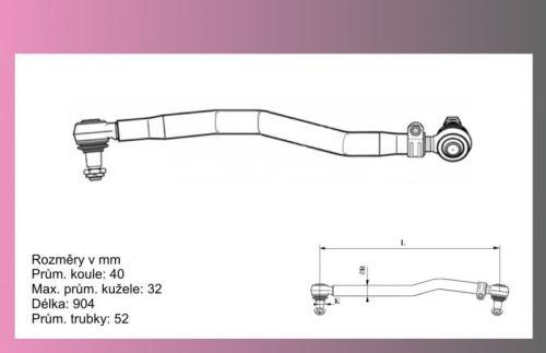 tyč řídící MB Actros 904mm