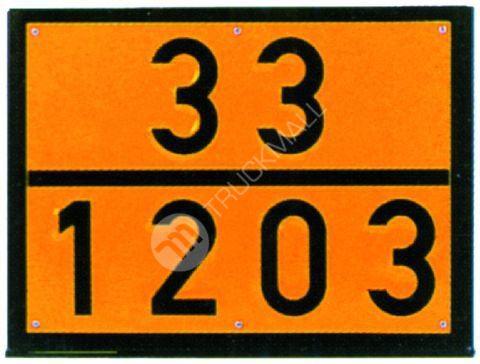 Tabulka ADR jednoúčelová s lisovanými čísly