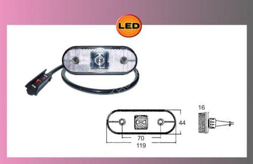 LED UNIPOINT-bílý 24V/1.3W kabel 0,5m