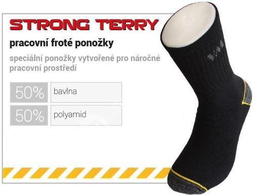 Pracovní froté ponožky - vel.43-46