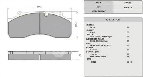 desky brzdové SAF-/GIGANT-HALDEX/