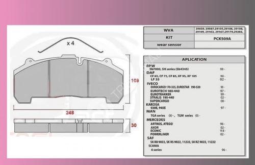 desky brzdové BPW-SB4345-PP