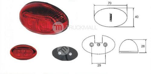 LED-MONOPOINT I,červené,12/24V-chrom