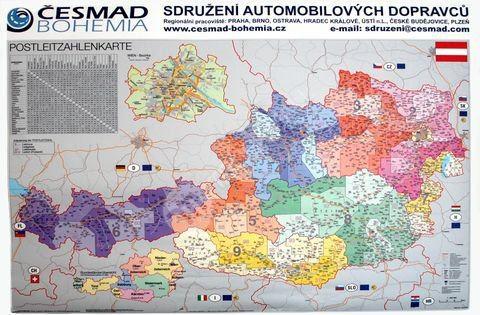 Nastenna Mapa Rakousko S Psc Truckmall Cz