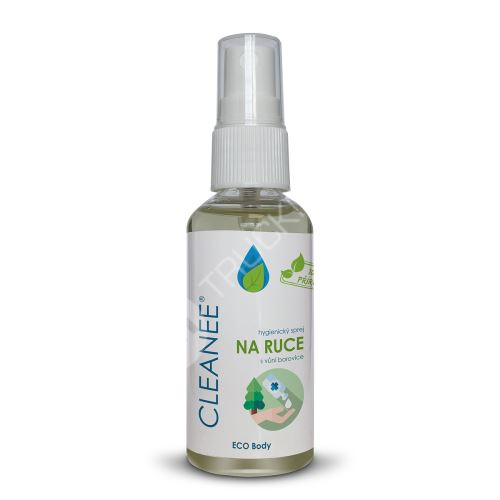 CLEANEE ECO hygienický sprej na ruce s vůní BOROVICE 50 ml