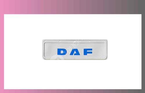 zástěra kola DAF 600x180-pár-přední-bílá-modré písmo