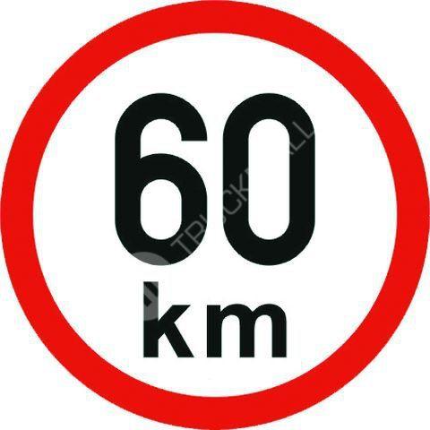 Samolepící štítek 60 km