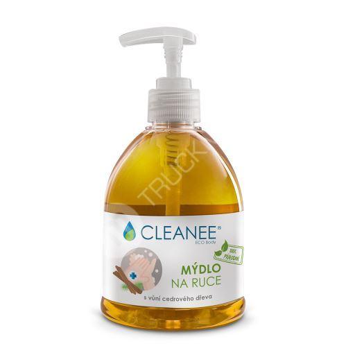 CLEANEE ECO Body 100% přírodní mýdlo na ruce s vůní cedrového dřeva 500ml