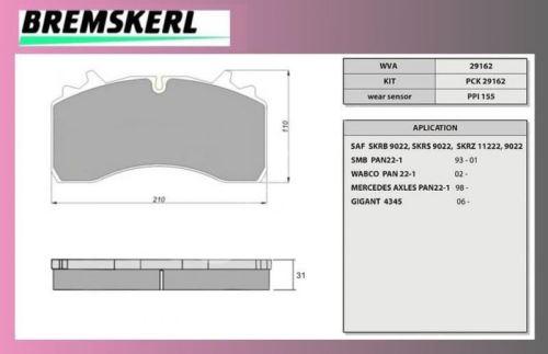 desky brzdové SAF SKRB 9022W-BREMSKERL