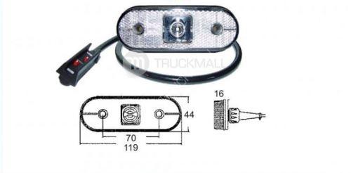 LED UNIPOINT-bílý 24V/1,3w kabel 1,5m