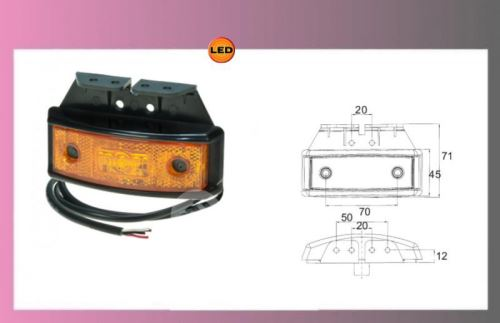 světlo LED-PRO-SML oranž.10-32V/1,3W+drž