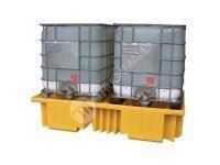 Záchytná vana pod dva IBC kontejnery, žlutá