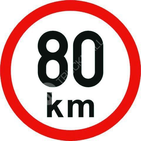 Samolepící štítek 80 km reflexní