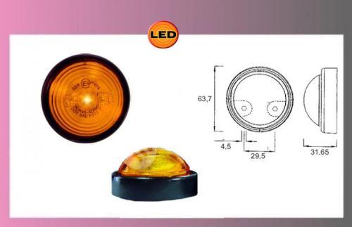 světlo obrys.LED oranž 9-36V +0,3m kabel