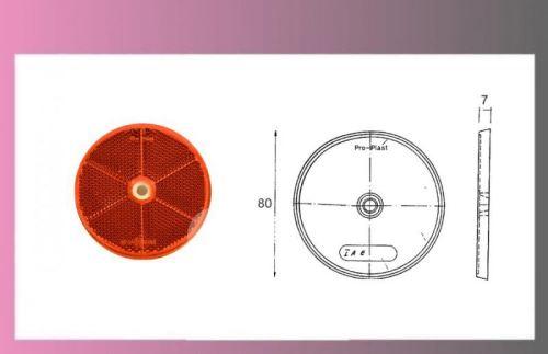 odrazka červená pr.80mm-samolepící