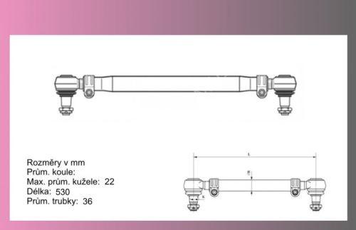 tyč řídící MB 817