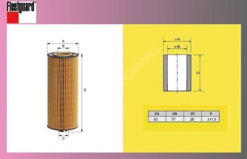 filtr olejový MB ATEGO 1223