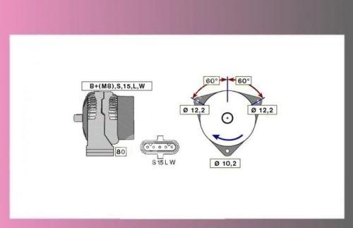 alternátor MAN TGA,L2000-24V/55A-