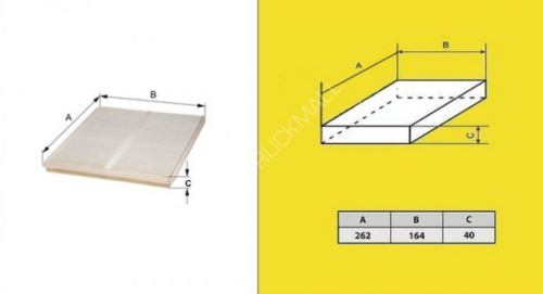 filtr pylový DAF 85CF od 7/00-ASAS