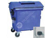 Plastový kontejner s otvorem na papír, se zámkem, modrý
