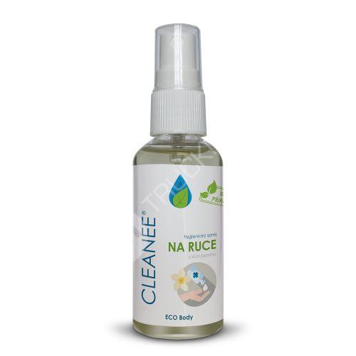 CLEANEE ECO hygienický sprej na ruce s vůní JASMÍNU 50 ml