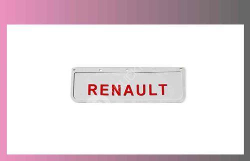 zástěra kola RENAULT- 600x180-pár-přední-bílá-červené písmo