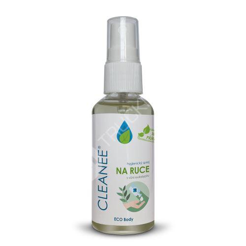 CLEANEE ECO hygienický sprej na ruce s vůní EUKALYPTU 50 ml