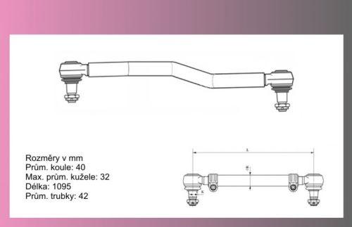 tyč spojovací MB Actros 1095mm-