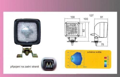 reflektor prac.H3 12/24V 100x100 ADR